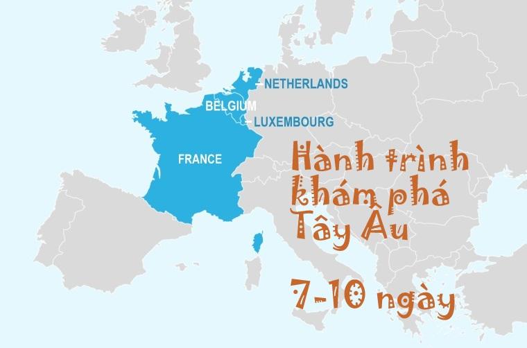 Lịch trình khám phá Tây Âu 7-10 ngày