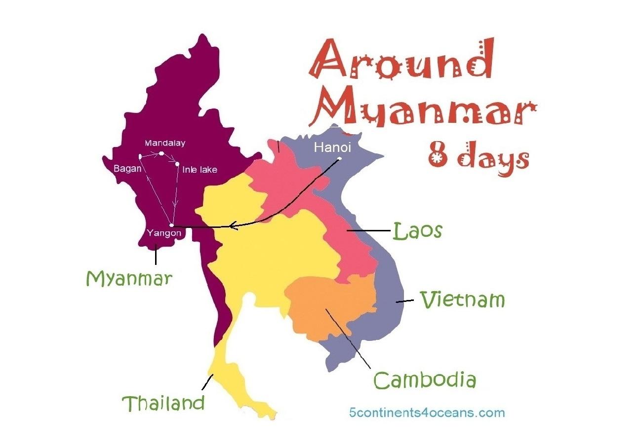 Lịch trình khám phá Myanmar trong 8 ngày