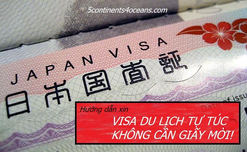 Xin visa du lịch tự túc Nhật không thư mời