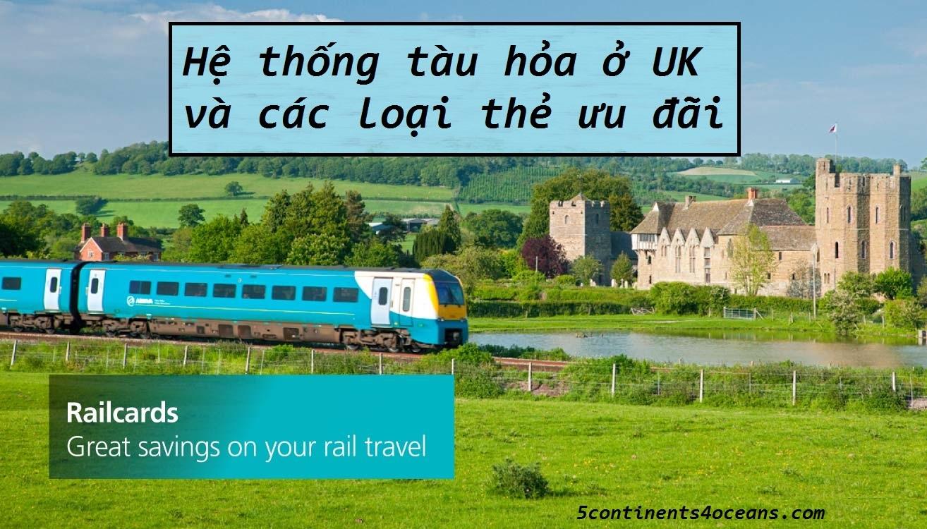Hệ thống tàu hỏa ở UK và các loại thẻ ưu đãi (railcards)