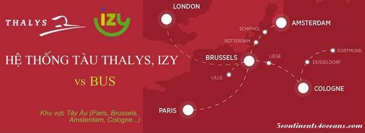 Tàu nhanh Thalys vs tàu Izy vs Bus